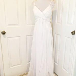 Calvin Klein white mesh Grecian evening gown 6